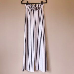NWOT Nasty Gal Long Way Up Striped Wide Leg Pants